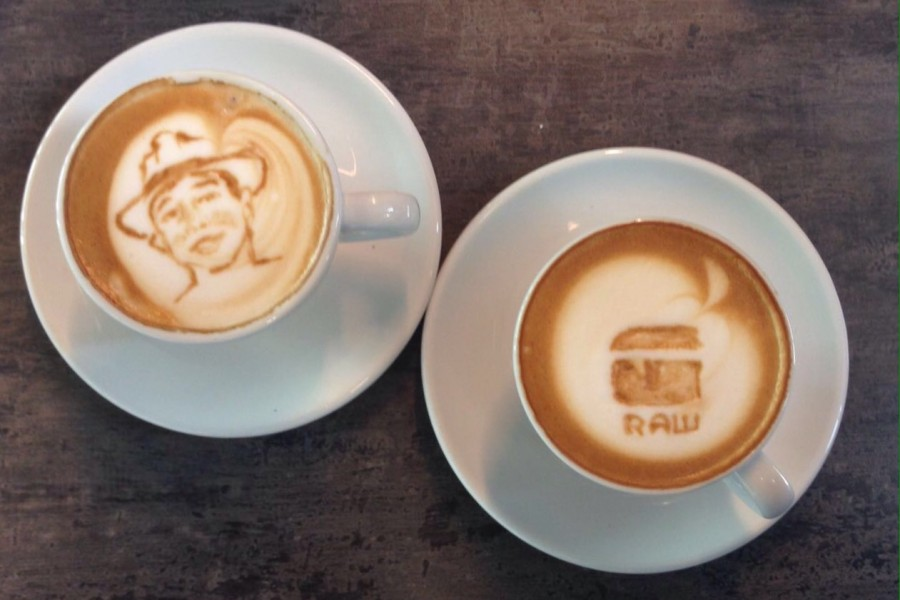 Pharell Williams enthousiast over onze koffie